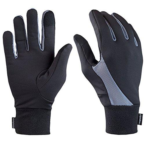 Trailheads, elements, guanti capacitivi per la corsa, black, m