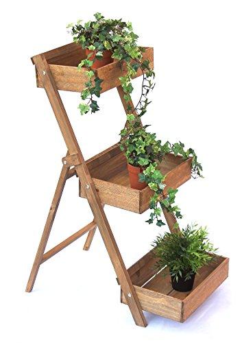 DanDiBo Kräuterregal Fiora-1 aus Holz 90cm Blumentreppe Pflanzentreppe Blumenständer