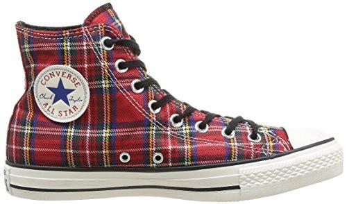 Converse Herren All Star Hi Textile Chuck Taylor Mehrfarbig (Red Tartan)