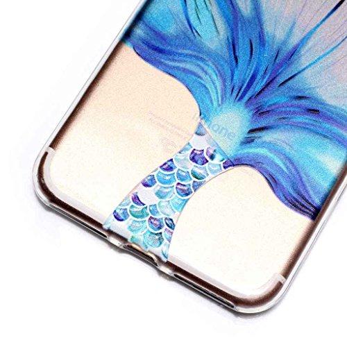Per iPhone 7 Plus Cover , YIGA Moda piccola turtle Cristallo Trasparente Silicone Morbido TPU Case Custodia per Apple iPhone 7 Plus (5.5) HX51