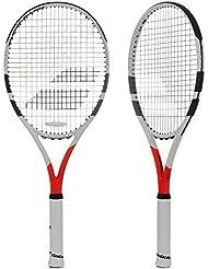 Babolat Boost Strike Strung Raquetas de Tenis, Hombre, Blanco / Rojo, 2