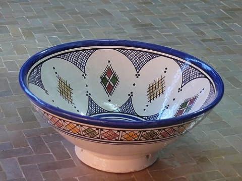 Marokkanische Orientalische Keramik Geschirr Schüssel Schale Obst Salat Müsli Ø 25 cm