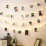 LED Photo Clip Lumières, DazSpirit 10M 100 LED Lumière de Guirlandes, avec 50 Clips Transparent pour Intérieur Lumière Suspendue de Cadres de Photo pour la Maison, le Mur, le Noël, la Partie