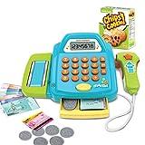 BSPAS Kasse Kaufladen Kinder Spielzeugkasse mit Scanner Registrierkasse Kasse für Kaufmannsladen Kinderspiel for Kinder ab 3 Jahren