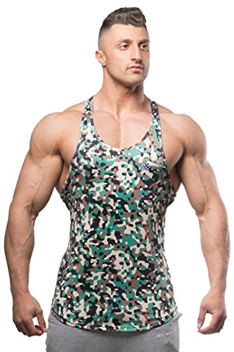 Jed North Bodybuilding Tank Top Gym Stringer Y-Back Muscle Racerback