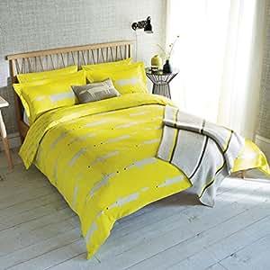 Scion Mr Fox Parure de lit, housse de couette pour lit king size, agrumes