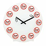 NO SMOKING WALL CLOCK BY PRIME FURNISHING