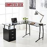 Generic Möbel Schrank Laptop Tisch Wer Office Schwarz L Form Schwarz L mit Schublade R Schreibtisch Lap Computer-Schreibtisch PE Computer Schrank Büro Möbel