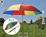 XXL Regenschirm + Sonnenschirm mit Schutzhülle in einem, 150 cm, 1,50 m groß, Sonnendach Schirm Strandschirm, anthrazit-schwarz, Strandschirm,Sonnendach /Sonnenschutz Dach, schwarz-XXL-Schirm, Gartenschirm extrem wetterfest, faltbar, tragbar, seewasserfest, hochwertig robust stabil, Sonnenschutz, stabiler Schirm Schirm, Strandschirme, Sonnenschirme, Sonnenschirm-Tische, Regenschirm Picknickschirme