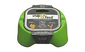 snap and feed - Futternapfhalter für standard Alu-Portionspackungen 88 mm (Grün)