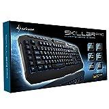Sharkoon Skiller Pro beleuchtete Gaming Tastatur (9 Multimedia-, 6 Makro- und 3 Profil-Tasten, Software, USB) schwarz - 7