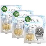 Air Wick Desodorisant Diffuseur Electrique Douceur de Coton - Lot de 3
