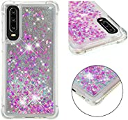 Lucifa Huawei P30 Case Flowing Liquid Floating Bling Shiny Sparkle Glitter Case Cover