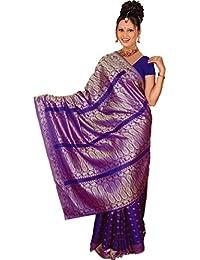Bollywood Sari Kleid Dunkel Lila CA107