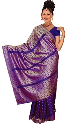 Trendofindia Indiano Sari Bollywood CA107, Colore Scuro Viola