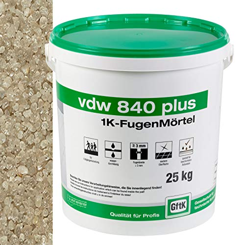 vdw840 plus 1K-Fugenmörtel, 25 kg (natur)