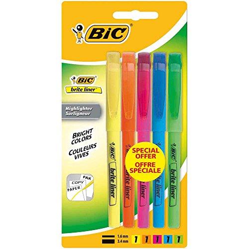 bic-brite-liner-surlingeur-surtido-colores-blister-pack-de-5