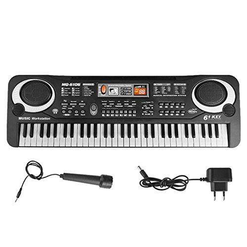 Kinder Klavier, 61 Schlüssel Tragbare Musik Elektronische Tastatur Digitale Orgel Musical Piano Educational Teaching Anfänger Tastatur Spielzeug Mit Mikrofon für Kinder Jungen Mädchen Geschenk von Asdomo