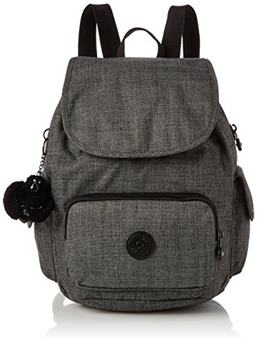 Kipling Damen City Pack S Rucksack, Grau (Cotton Grey), 27x33.5x19 cm