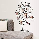 Alicemall Wandaufkleber Hochwertig PVC Wandtattoo Blumen Sticker Kinderzimmer Wohnzimmer Sofa Hintergrund (Baum Bilderrahmen)