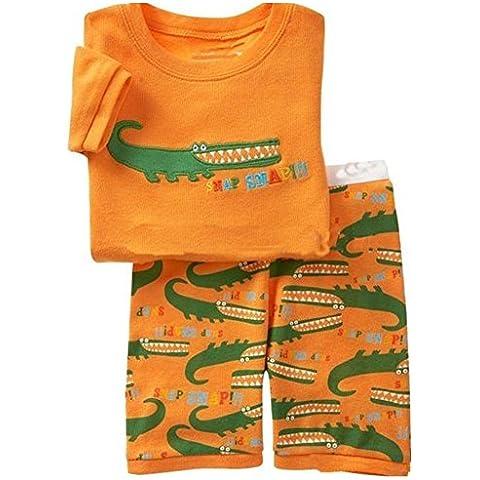 Milanao bambini, 2 pezzi, 100% cotone, Pigiama corto Set pigiama 2T-7