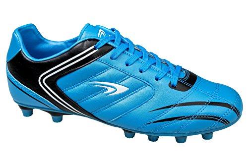 GIBRA® Homme Chaussures de football, bleu/noir, Taille 41–46 Bleu - Bleu/noir