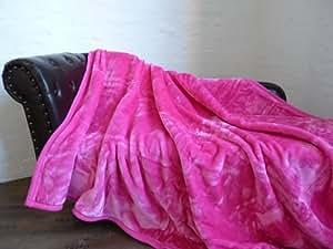 luxus kuscheldecke tagesdecke decke rosa pink 160x200cm. Black Bedroom Furniture Sets. Home Design Ideas