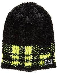 Emporio Armani EA7 gorro de hombre sombrero nuevo train graphic negro
