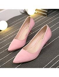 Los Pocos Tacón De Para Zapatos Mujer es Amazon P5wOUq56
