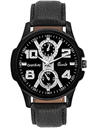 GRANDLAY MG-3072 BLACK DIAL AUTHENTIC WATCH FOR MENZ (Black)