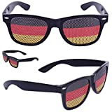 Coole Fanbrille Sonnenbrille WM Deutschland Brille in schwarz rot gold