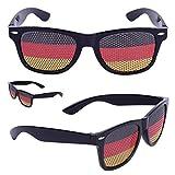 Coole Fanbrille Sonnenbrille WM Deutschland Brille in schwarz rot gold (3er Set)