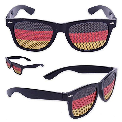 Coole Fanbrille Sonnenbrille WM Deutschland Brille in schwarz rot gold (3er Set) (Fußball-sonnenbrillen)