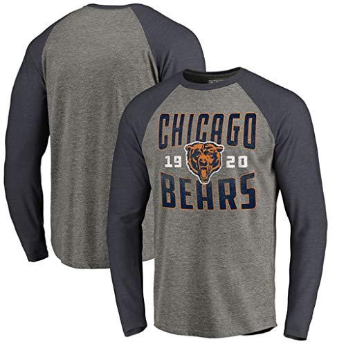 YUNMO Rugby Chicago Bears T-Shirt Trainingsanzug Wettbewerb lässig Langarm-Sweatshirt (Size : XL) -