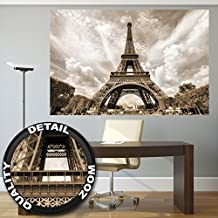 Póster Torre Eiffel Mural Decoración Francia Capital París Monumento Emblema Torre Eiffel Torre de observación | foto póster mural imagen deco pared by GREAT ART (140 x 100 cm)