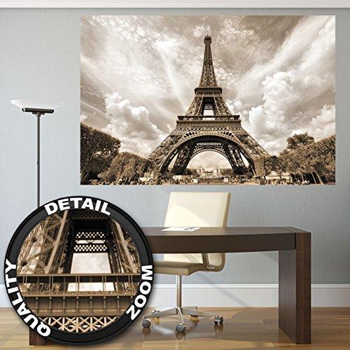 Papier Peint Photo Avec La Tour Eiffel Decoration Romantique Photo