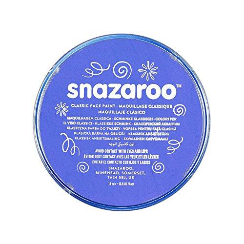 Snazaroo - Pintura facial y corporal, 18 ml, color azul cielo