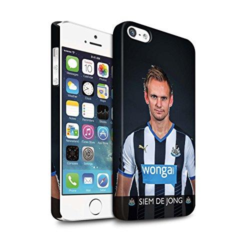 Officiel Newcastle United FC Coque / Clipser Matte Etui pour Apple iPhone 5/5S / Tioté Design / NUFC Joueur Football 15/16 Collection De Jong