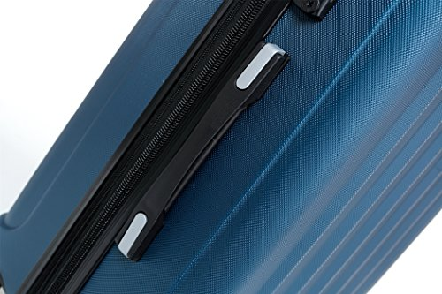 TSA-Schloß 2080 Hangepäck Zwillingsrollen neu Reisekoffer Koffer Trolley Hartschale XL-L-M(Boardcase) in 12 Farben (Blau, Set) - 4
