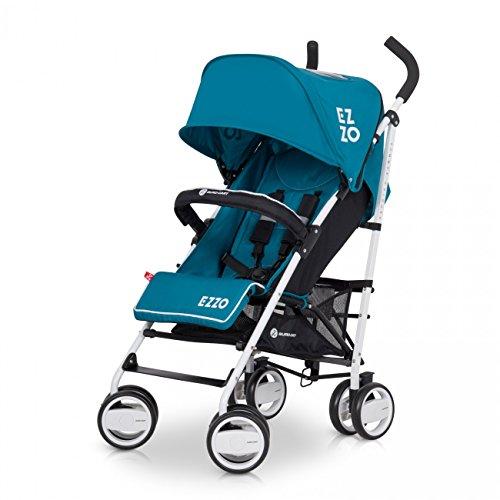 Buggy EZZO Sport Kinderwagen | Baby ab 6. Monate | Kompakt Faltbar | Farbe: Adriatic