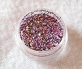 New Nail Art Glitter Multicolor Rosa/Lila/Silber Glitzerpulver Pulver Glitzer 3g Döschen Einleger für Einarbeitung in Gelnägel Nagel Design