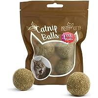 PRETTY KITTY 4x Katzenminze Ball XXL (ø4cm) aus 100% natürlicher Katzenminze als aufregendes Spielzeug für Katzen (4er Pack, 95g)