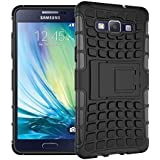 Dream2cool FOR Samsung Galaxy A5 2015 SM-A500F Tough Hybrid Flip Kick Stand Spider Hard Dual Shock Proof Rugged Armor Bumper Back Case Cover For Samsung Galaxy A5 2015 SM-A500F (BLACK)