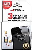 GTSI6G/ Triple SIM/ CARBONSCHWARZ/ 2 JAHRE Herstellergarantie!/ Mehrsprachig/ Dual SIM TripleSIM Adapter iPhone 6 UMTS/3G/HSDPA/GPS/LTE