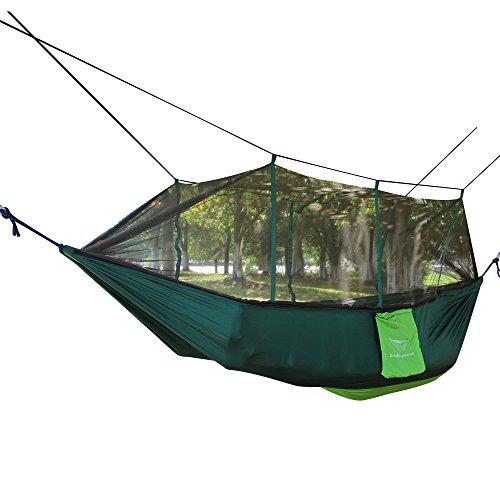 Hamac avec Moustiquaire 2 Personnes Hamac Double Suspendu 200 kg Capacité de charge 260 x 140 CM pour Voyage en Plein Air Intérieur Camping Backpacking