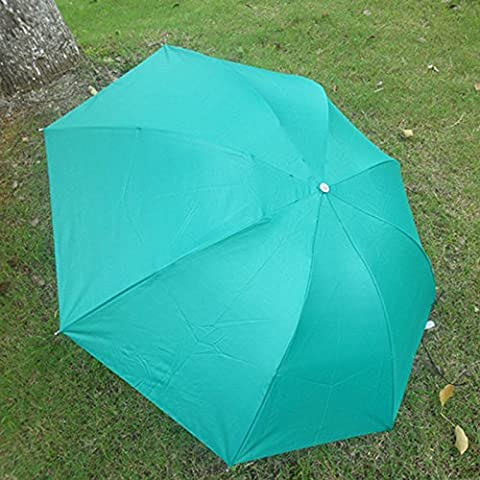 Paraguas de triple plegado, azul