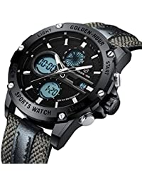 8fa55fc8c192 Uomo sport impermeabile LED militare digitale analogico al quarzo orologi  per gli uomini moda casual orologio
