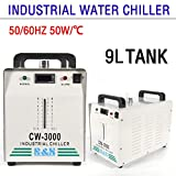 Industrielle Wasser-Kühler Wasser Kühler 9L Industrieller Wasserkühler CW-3000DG Thermolyse Typ 50W Water Chiller Wasserkühlung CO2 Laser Rohrkühler für CNC Gravieren
