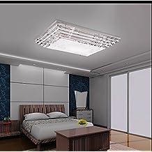 TOYM UK Atmosphare Rechteckigen Wohnzimmerlampe Kristalllampe Schlafzimmerlampe Gemutliches Restaurant Eingerichtet Deckenleuchte LED