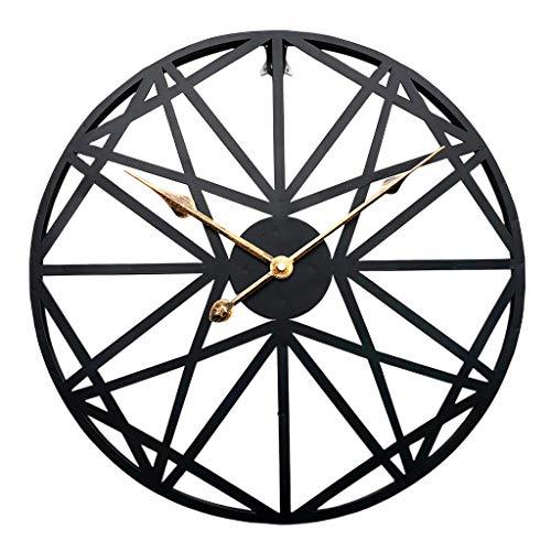 LOVIVER Funkwanduhr Metall Vintage Wanduhr Funkuhr 45 cm mit geräuschlosem Uhrwerk, schwarz